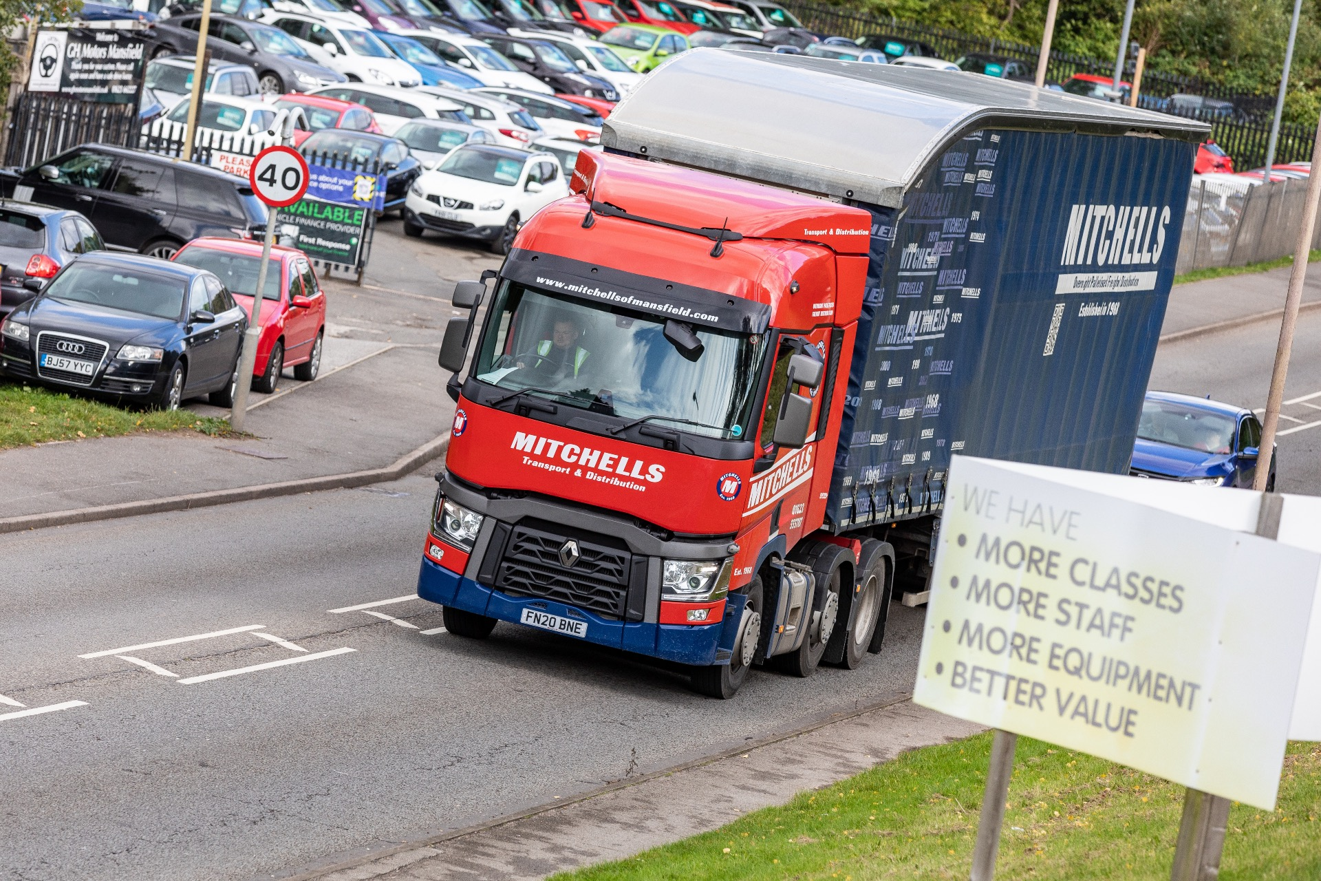 Mitchells lorry out for delivery