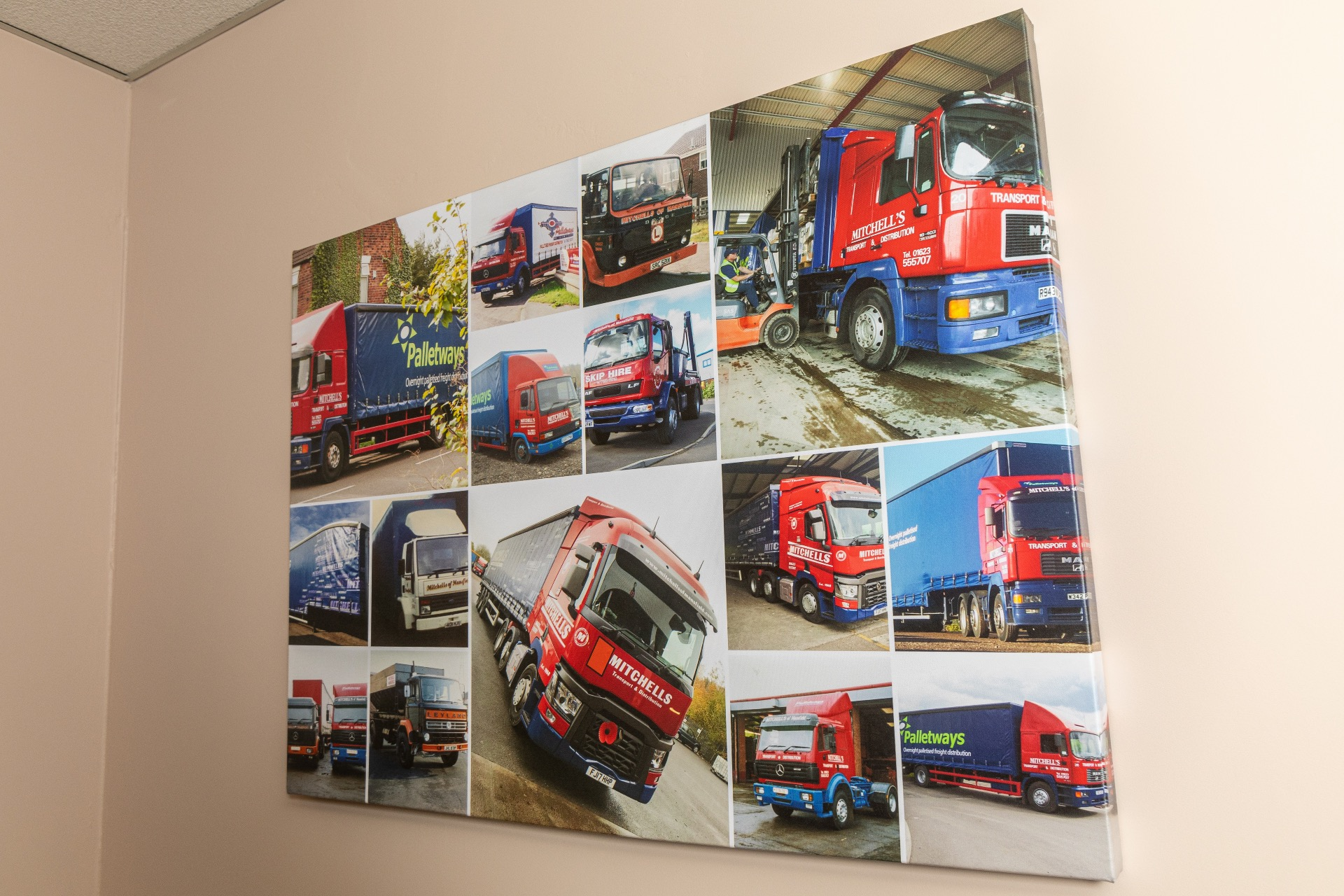 Photographs of Mitchells lorries over the years,